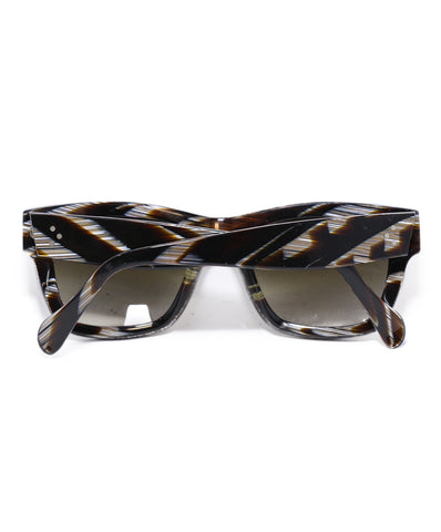 Celine Brown White Frame Sunglasses 1