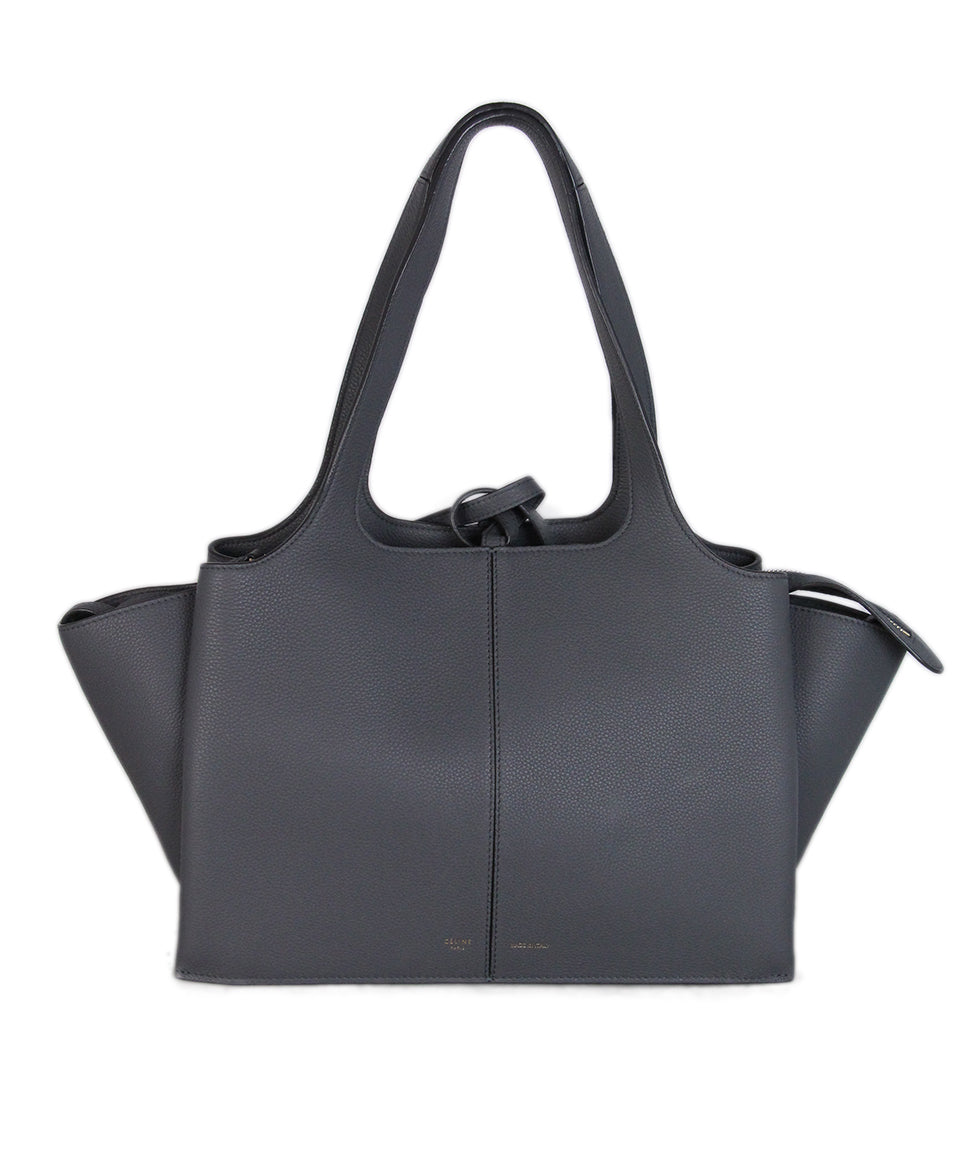Celine Grey Leather Tri-fold Bag 1
