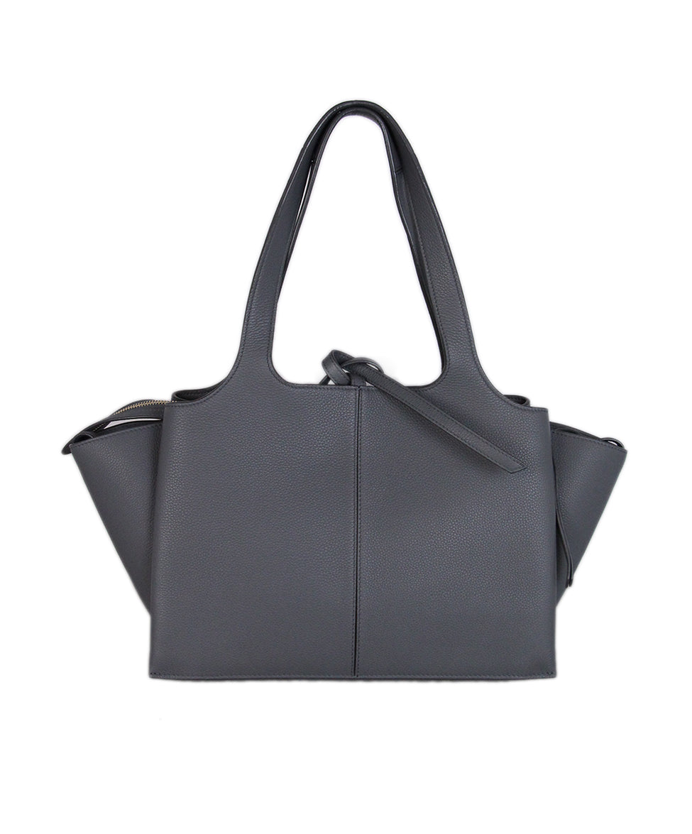 Celine Grey Leather Tri-fold Bag 3