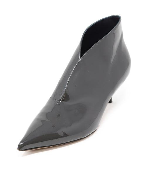 Celine Grey Patent Leather Booties 39