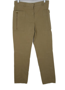Celine Neutral Tan Cotton Pants 1