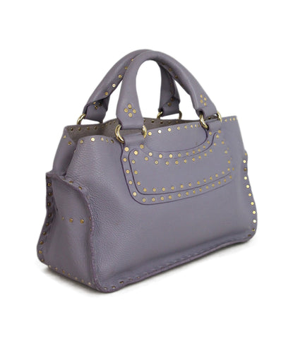 Celine Lilac Leather Studded Satchel 1