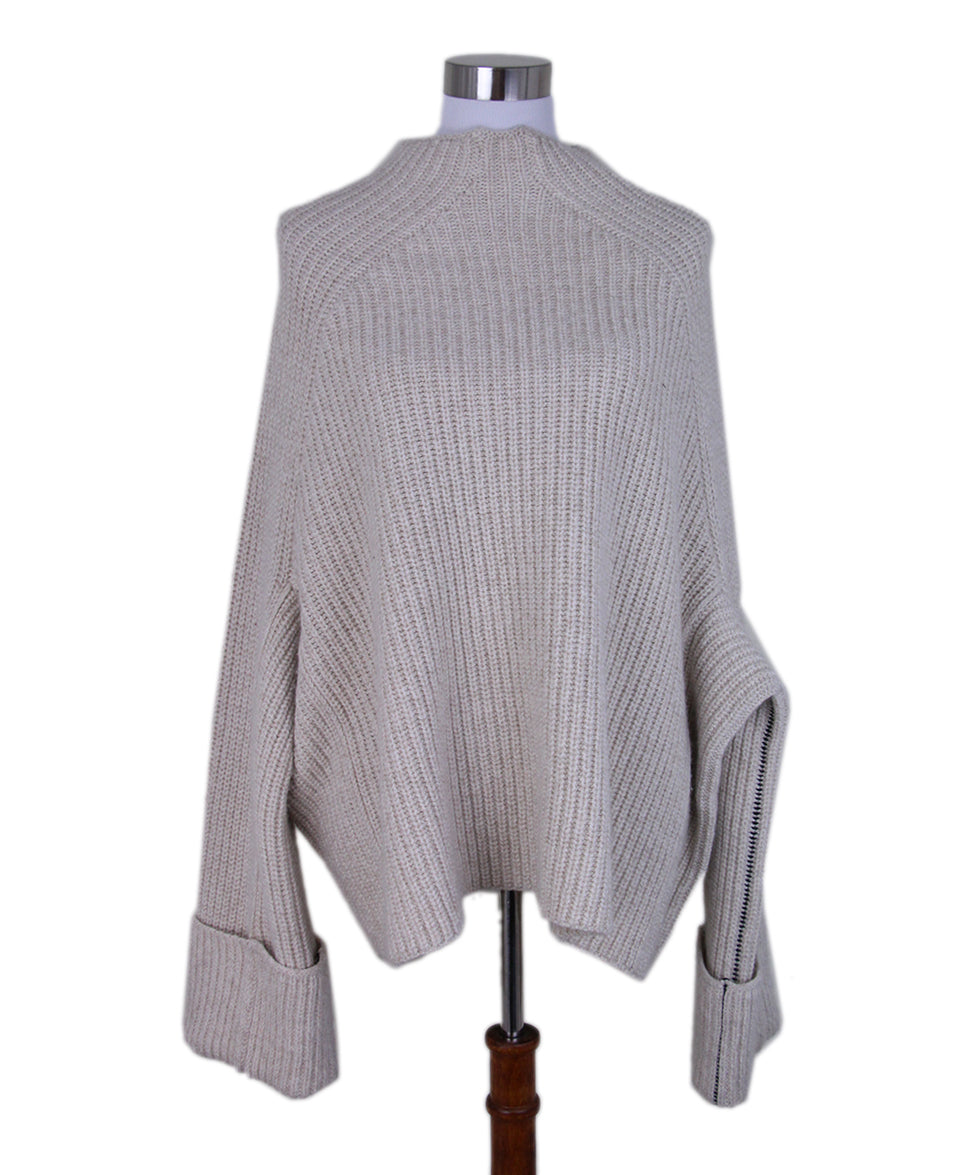 Celine Neutral oatmeal mohair sweater 1