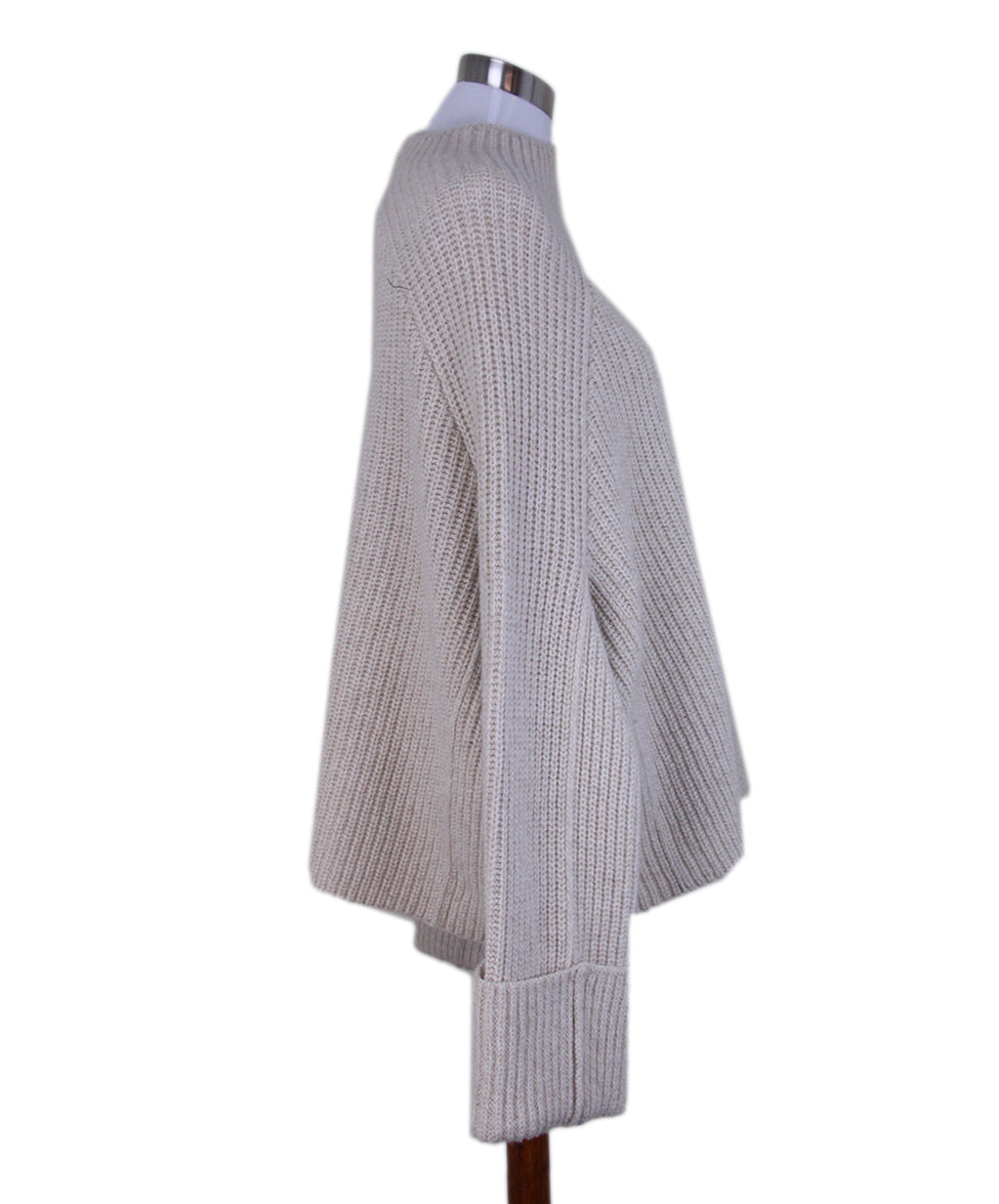 Celine Neutral oatmeal mohair sweater 2
