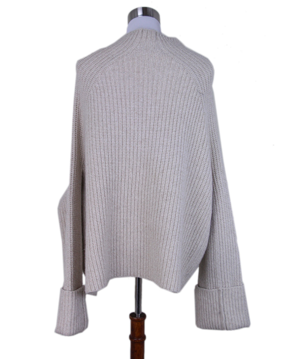 Celine Neutral oatmeal mohair sweater 3