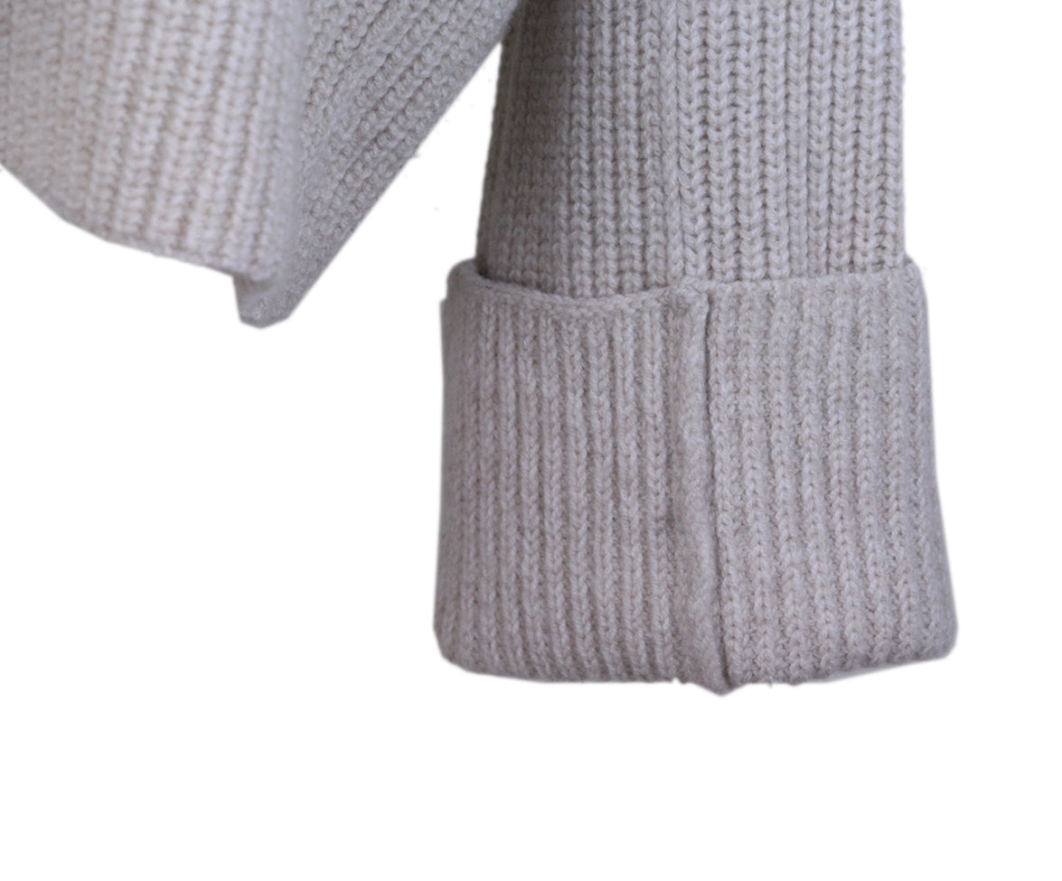Celine Neutral oatmeal mohair sweater 5