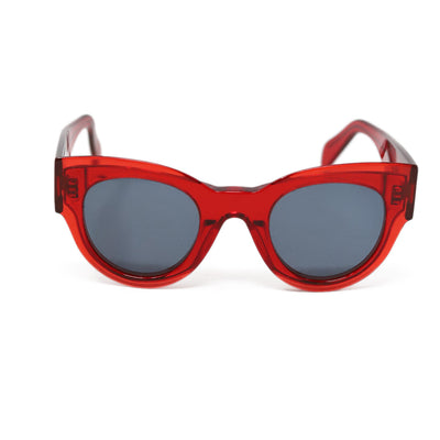Celine Red Acetate Sunglasses