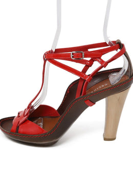 Celine Red Patent Leather Sandals 1
