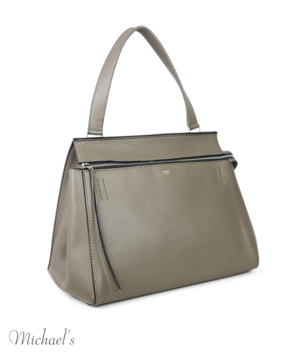 "Celine Taupe Leather ""as is"" W/Dust Cover Handbag"