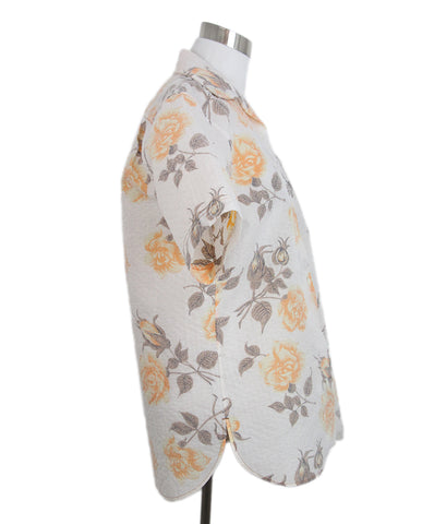 Celine beige orange floral shirt 1