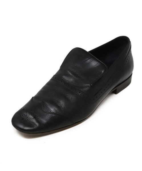 Celine Black Leather Flats 1