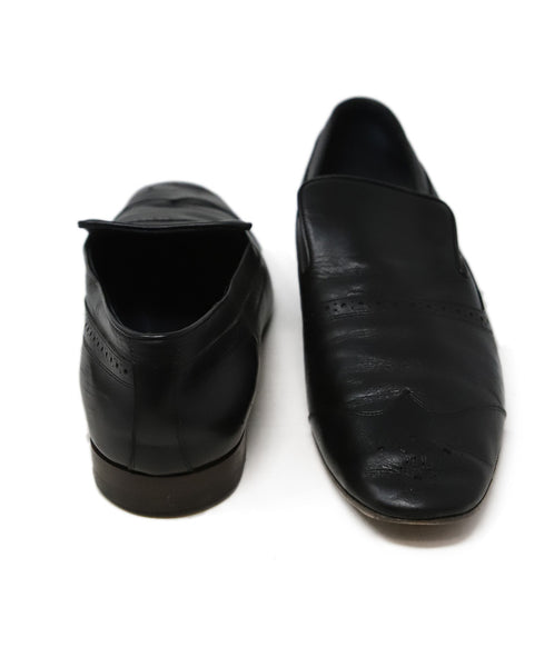 Celine Black Leather Flats 3