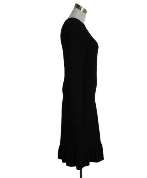 Celine Size 2 Black Cotton Dress 2