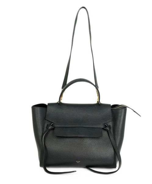Celine Black Leather Micro Belt Satchel Handbag 1