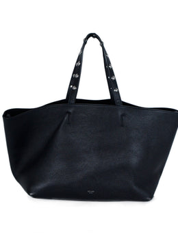 Celine Black Leather Tote Handbag 1