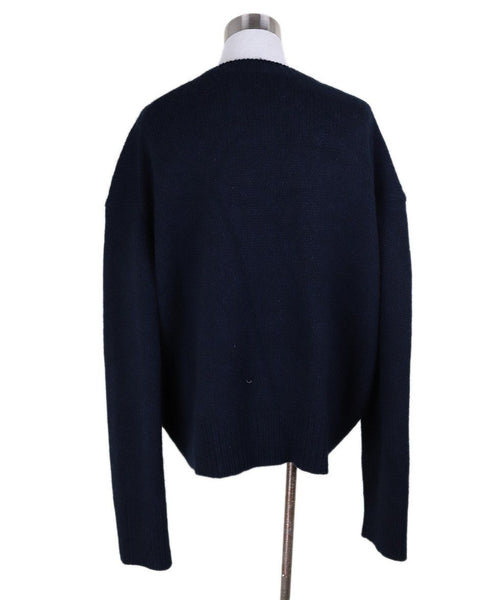Celine Black Navy Cashmere Sweater 2