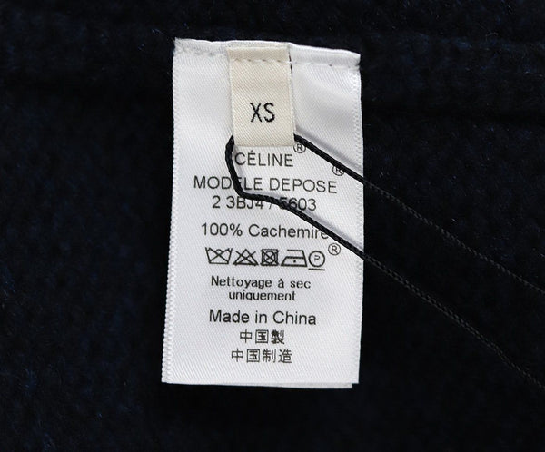 Celine Black Navy Cashmere Sweater 4