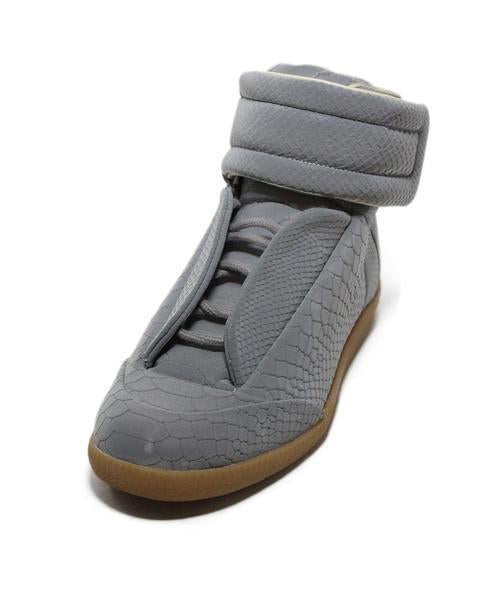 Margiela Grey Leather High Top Sneakers Sz. 38