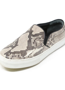 Celine Brown Beige Snake Skin Sneakers 1