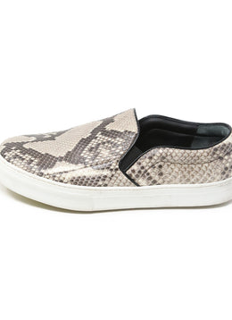 Celine Brown Beige Snake Skin Sneakers 2