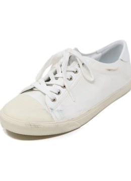 Celine White Canvas Sneakers Shoes 1