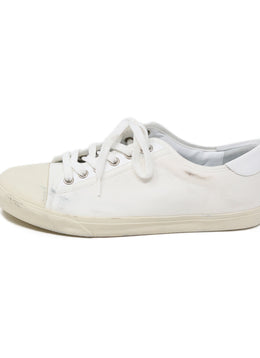 Celine White Canvas Sneakers Shoes 2