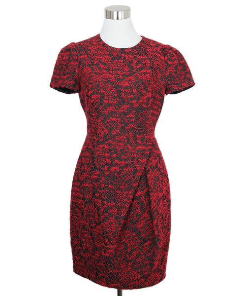 Ch Red Black Polyester Dress 1