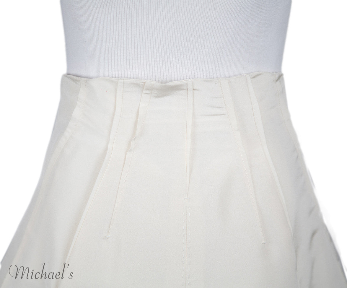 Chado Ivory Raw Silk Skirt Sz 4 - Michael's Consignment NYC  - 6