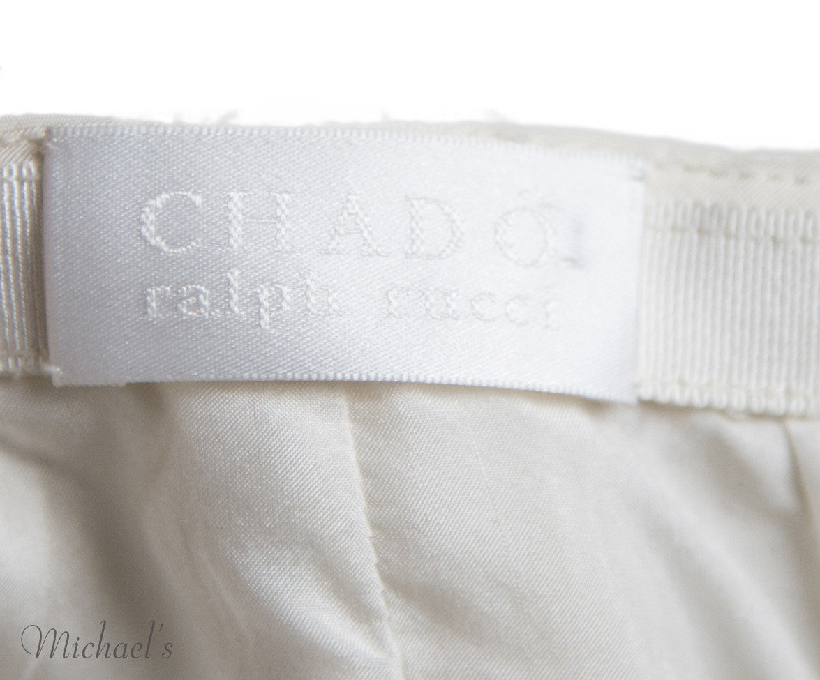 Chado Ivory Raw Silk Skirt Sz 4 - Michael's Consignment NYC  - 7