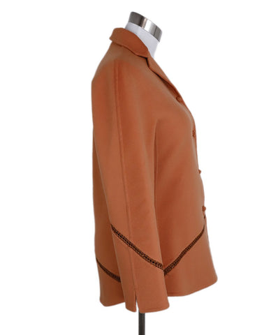 Ralph Rucci Chado Orange Cashmere Wool Jacket 1