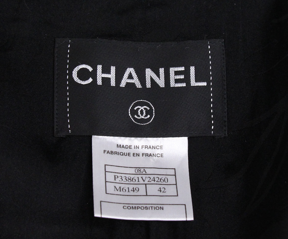 Chanel 2008 Green Black Cashmere Coat 4