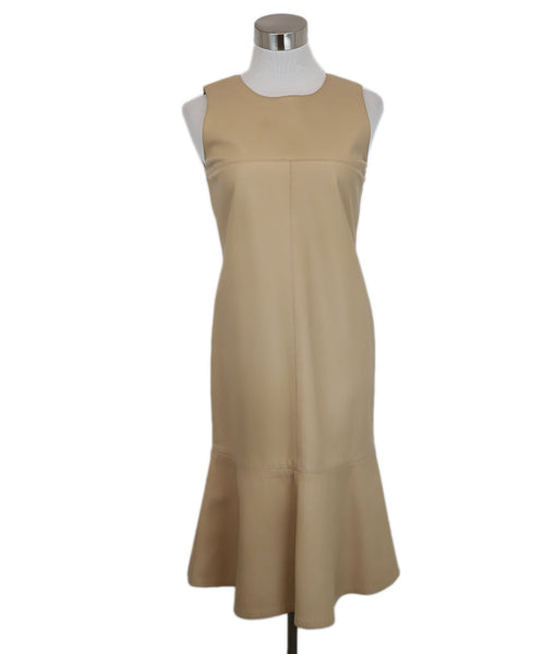 Chanel Beige Leather Dress 1