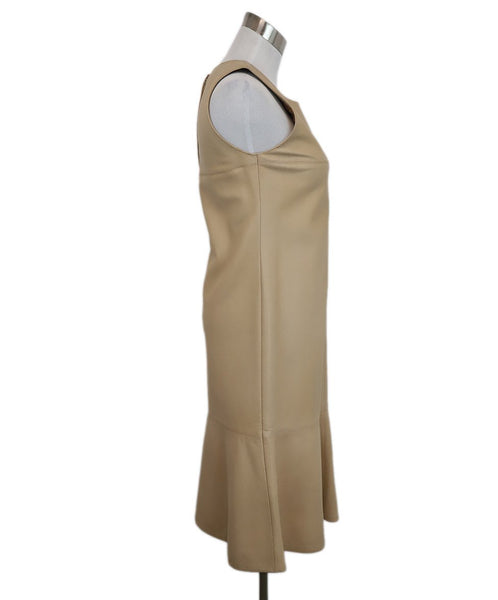 Chanel Beige Leather Dress 2