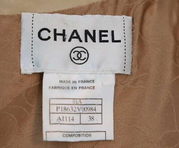 Chanel Beige Leather Dress 4
