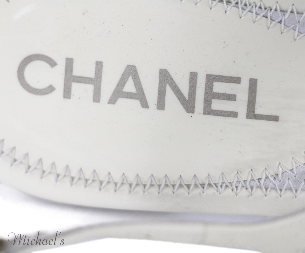 Chanel Beige Patent Leather Shoes