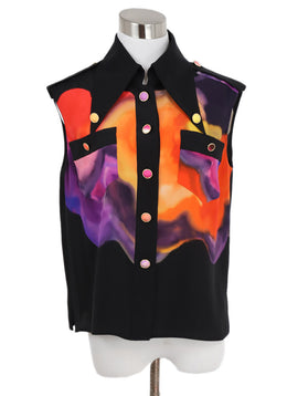 Chanel Abstract Silk Blouse 1