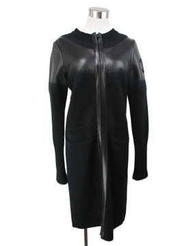Chanel Black Cashmere and Leather Coat 1