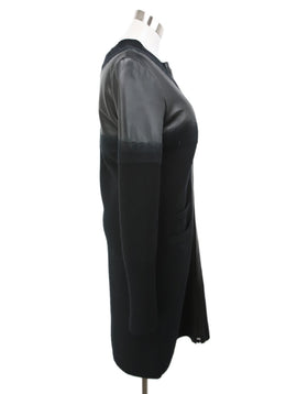 Chanel Black Cashmere and Leather Coat 2