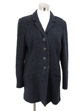 Chanel Black Cotton Tweed Jacket 1