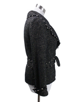 Chanel Black Gold Tweed Jacket sz 6