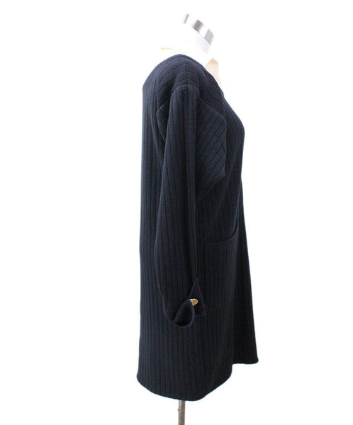 Chanel Black Ivory Wool Dress 1