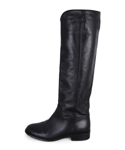 Chanel Black Leather Boots 1
