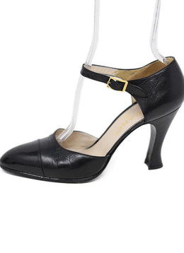 Chanel Black Leather Heels 1