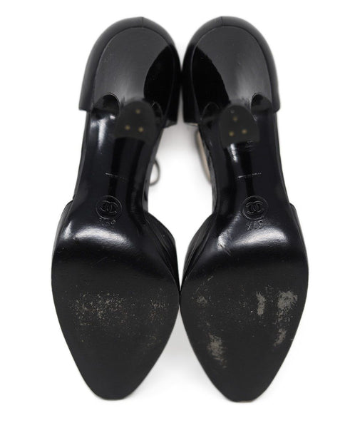 Chanel Black Leather Heels 3