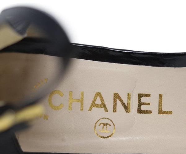 Chanel Black Leather Heels 4