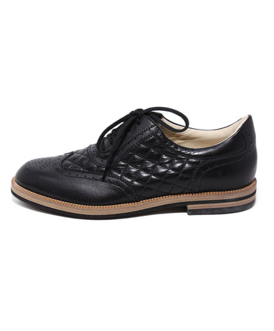 Chanel Black Leather Oxfords 1