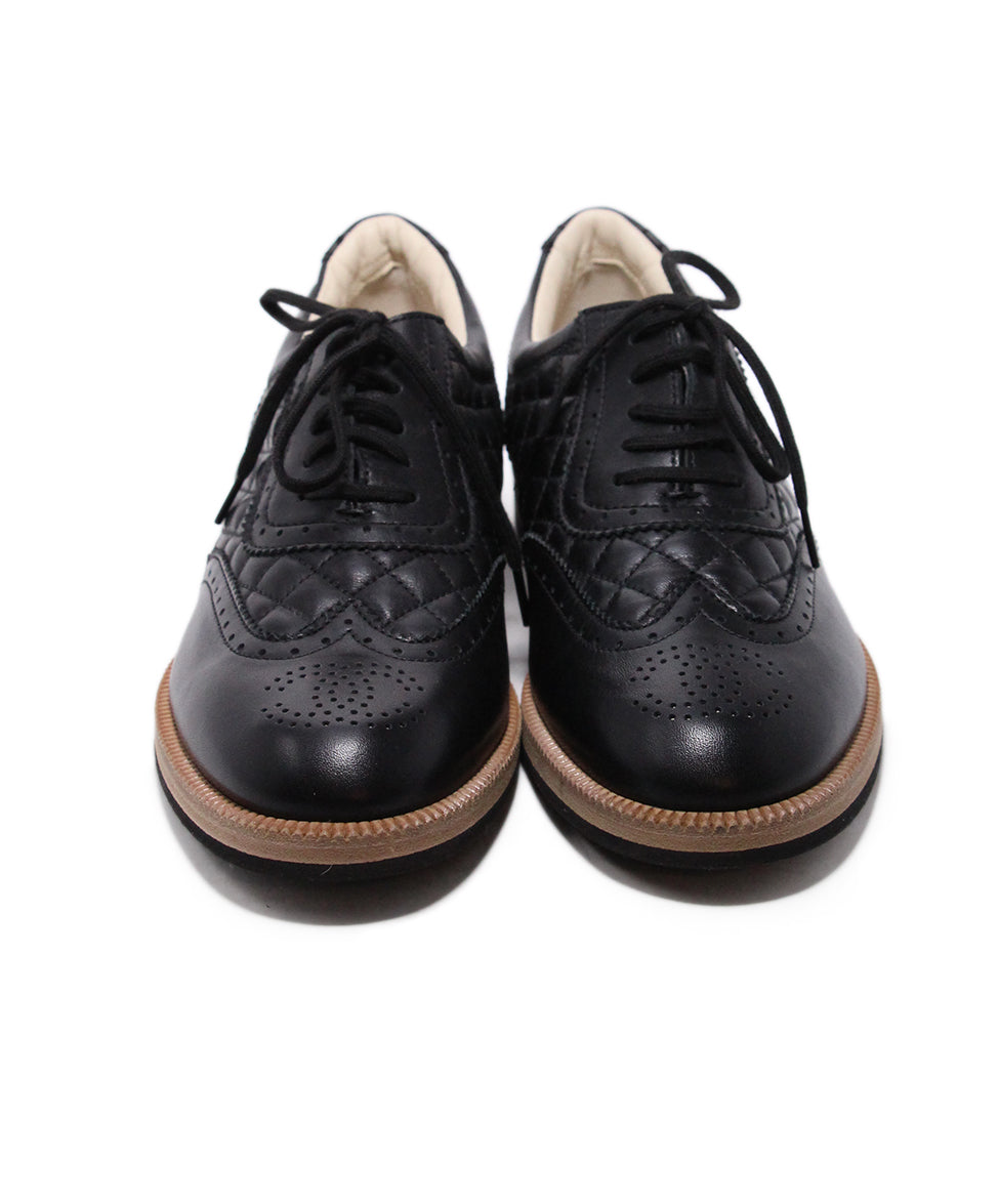 Chanel Black Leather Oxfords 4