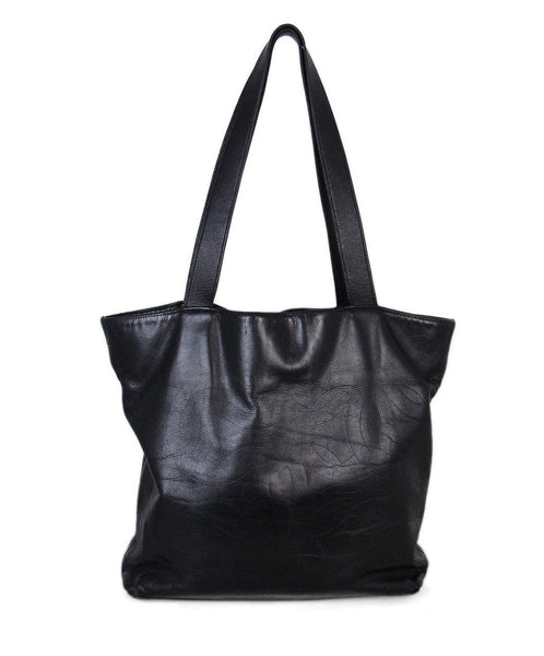 Chanel Black Leather Tote 1
