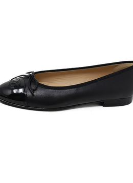 Chanel Black Leather Flats 1