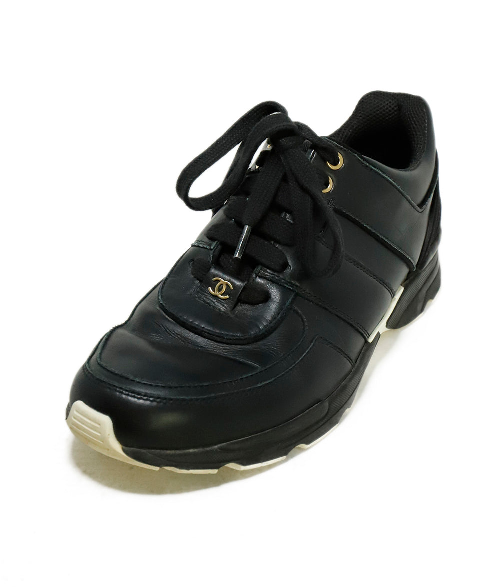 Chanel Black Leather Sneakers 1